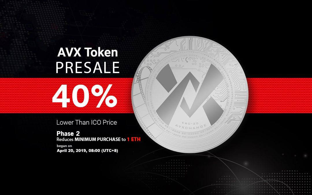 AVXChange Launches Phase 2 Of Its Token Presale